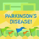 Handwriting text writing Parkinson S Is Disease. Concept meaning nervous system disorder that affects movement Blank. Handwriting text writing Parkinson S Is vector illustration