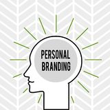 Handwriting text writing Personal Branding. Concept meaning Practice of People Marketing themselves Image as Brands. Handwriting text writing Personal Branding stock illustration