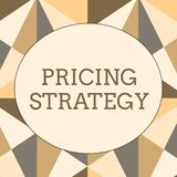 Handwriting text writing Pricing Strategy. Concept meaning set maximize profitability for unit sold or market overall. Handwriting text writing Pricing Strategy royalty free illustration