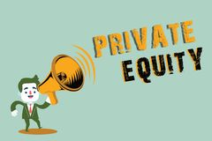 Handwriting text writing Private Equity. Concept meaning Capital that is not listed on a public exchange Investments.  vector illustration