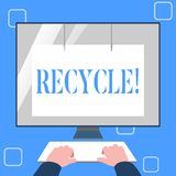 Handwriting text writing Recycle. Concept meaning Converting waste into reusable material. Handwriting text writing Recycle. Concept meaning Converting waste royalty free illustration
