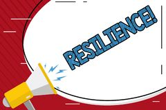 Handwriting text writing Resilience. Concept meaning Capacity to recover quickly from difficulties Persistence. Handwriting text writing Resilience. Concept royalty free illustration