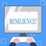 Handwriting text writing Resilience. Concept meaning Capacity to recover quickly from difficulties Persistence. Handwriting text writing Resilience. Concept vector illustration