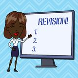 Handwriting text writing Revision. Concept meaning action of revising over someone like auditing or accounting. stock illustration