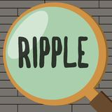 Handwriting text writing Ripple. Concept meaning small wave or series of them surface of water caused slight breeze.  vector illustration