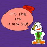 Handwriting text writing It S Time For A New Job. Concept meaning having paid position regular employment Smiley Face. Handwriting text writing It S Time For A royalty free illustration