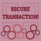 Handwriting text writing Secure Transaction. Concept meaning a transaction intended to create a security interest. Handwriting text writing Secure Transaction royalty free illustration