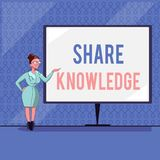 Handwriting text writing Share Knowledge. Concept meaning teaching others what I learnt before Giving lectures.  stock illustration