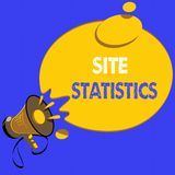 Handwriting text writing Site Statistics. Concept meaning measurement of behavior of visitors to certain website.  vector illustration
