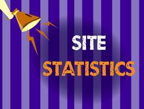 Handwriting text writing Site Statistics. Concept meaning measurement of behavior of visitors to certain website.  royalty free illustration