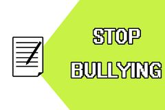Handwriting text writing Stop Bullying. Concept meaning Fight and Eliminate this Aggressive Unacceptable Behavior.  vector illustration