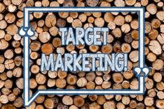 Handwriting text writing Target Marketing. Concept meaning Market Segmentation Audience Targeting Customer Selection. Handwriting text writing Target Marketing royalty free stock image