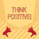 Handwriting text writing Think Positive. Concept meaning to believe that you are going to be succeed in your goal Blank. Handwriting text writing Think Positive vector illustration