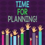 Handwriting text writing Time For Planning. Concept meaning exercising conscious control spent on specific activities. Handwriting text writing Time For Planning vector illustration