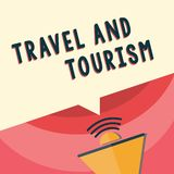 Handwriting text writing Travel And Tourism. Concept meaning Temporary Movement of People to Destinations or Locations.  vector illustration