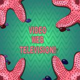 Handwriting text writing Video Web Television. Concept meaning television shows hosted on the channel s is websites. Starfish photo on Four Corners with royalty free illustration