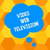 Handwriting text writing Video Web Television. Concept meaning television shows hosted on the channel s is websites. Blank Color Floral Shape Thought Speech vector illustration