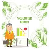 Handwriting text writing Volunteer Needed. Concept meaning Looking for helper to do task without pay or compensation. Handwriting text writing Volunteer Needed stock illustration