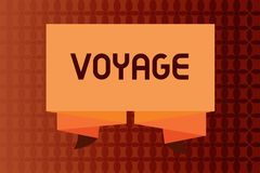 Handwriting text writing Voyage. Concept meaning Long journey involving travel by sea or in space Tourism Vacation.  vector illustration