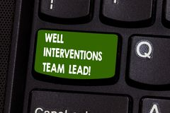 Handwriting text writing Well Interventions Team Lead. Concept meaning Oil and gas petroleum industry engineering. Keyboard key Intention to create computer royalty free stock photography