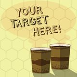 Handwriting text writing Your Target Here. Concept meaning Be focused on your goal objectives Strategy to succeed Two To. Handwriting text writing Your Target royalty free illustration