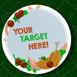 Handwriting text writing Your Target Here. Concept meaning Be focused on your goal objectives Strategy to succeed Hand. Handwriting text writing Your Target Here vector illustration