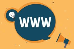 Handwriting text Www. Concept meaning Network of online content Formatted in HTML and accessed via HTTP vector illustration