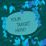 Handwriting text Your Target Here. Concept meaning Be focused on your goal objectives Strategy to succeed Tree Branches. Handwriting text Your Target Here stock illustration