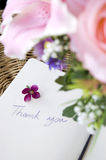 Handwriting words thank you Stock Images