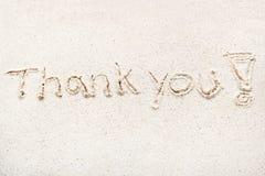 Handwriting words `Thank you`