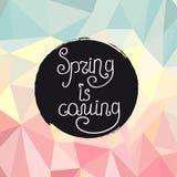 Handwriting wpisowa wiosna przychodzi Obraz Royalty Free
