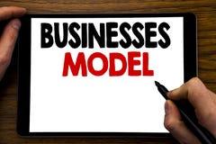 Handwriting zawiadomienia teksta seansu biznesów model Biznesowy pojęcie dla projekta Dla biznesu Pisać na pastylka laptopie, dre Zdjęcia Stock