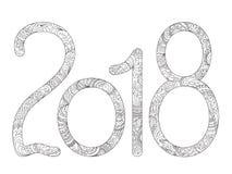 Handwriting zen 2018 Royalty Free Stock Image
