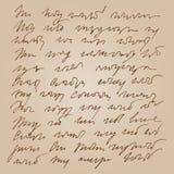 Handwritted конспектом предпосылка стенографии Стоковое Изображение RF