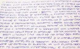 handwritten immagine stock