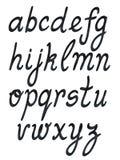 Handwritten abc set. Black on white vector Royalty Free Stock Photo