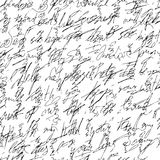 Handwritten abstract text. Seamless pattern. Vector illustration for fabric texture stock illustration
