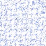 Handwritten abstract text. Seamless pattern. Vector illustration for fabric texture. Handwritten abstract text . Seamless pattern written with a blue pen. Vector Royalty Free Stock Photo