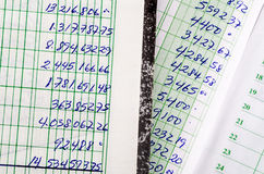Handwritten accounting Stock Photo