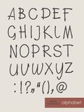 Handwritten alphabet letters .  ABC for your design. Royalty Free Stock Photography