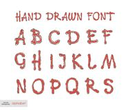 Handwritten alphabet letters .  ABC for your design. Easy to use and edit letters Royalty Free Stock Photos