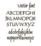 Handwritten alphabet letters . ABC for your design. Stock Photography