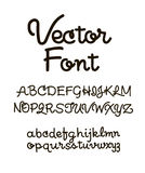 Handwritten alphabet letters . ABC for your design. Easy to use and edit letters Royalty Free Stock Photo