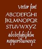 Handwritten alphabet letters . ABC for your design. Easy to use and edit letters Stock Photography