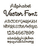 Handwritten alphabet letters . ABC for your design. Stock Photos