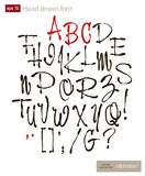 Handwritten alphabet letters vector. ABC for your design. Stock Photo