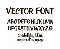 Handwritten alphabet letters vector. ABC for your design. Easy to use and edit letters Royalty Free Stock Photo