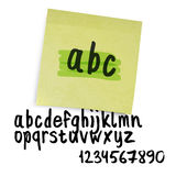 Handwritten alphabet Royalty Free Stock Photos