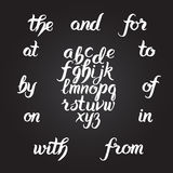 Handwritten alphabet set Stock Image