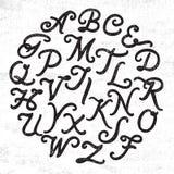 Handwritten alphabet set Stock Photography